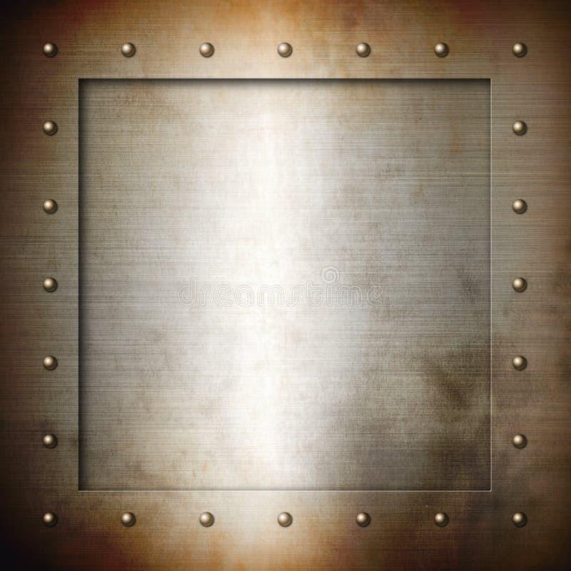 Roestig geborsteld Staalkader royalty-vrije illustratie