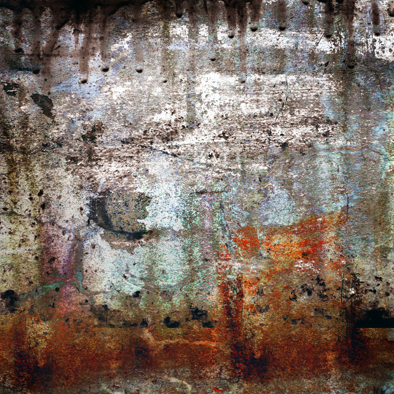 Roestig-gekleurde grunge achtergrond royalty-vrije stock foto