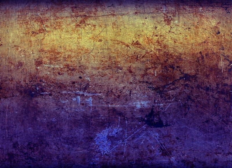 Roestig gel-Aangestoken Blad van het Metaal 2 stock fotografie
