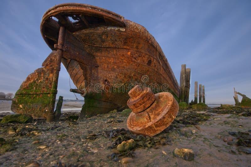 Roestig oud schip royalty-vrije stock foto's