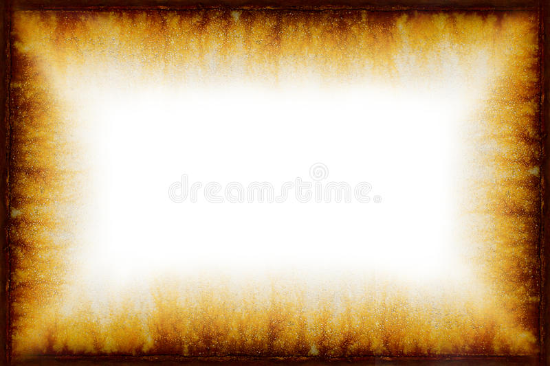 Roestig Uitstekend Frame Grunge met Witte Achtergrond stock illustratie