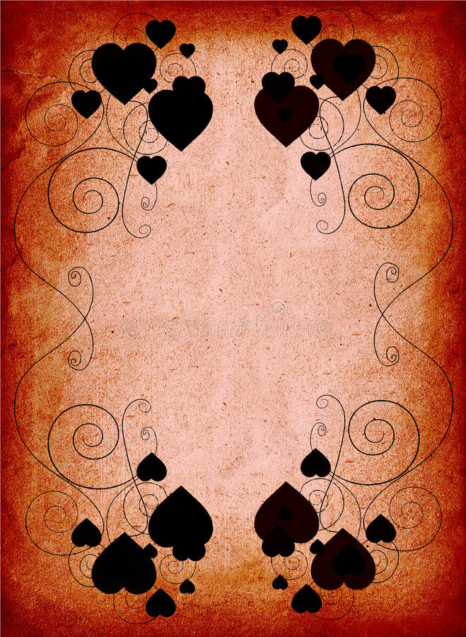 Roestig valentijnskaartframe vector illustratie