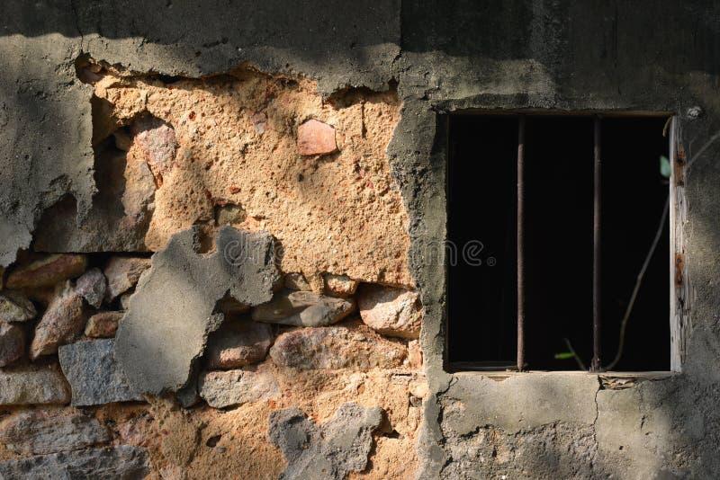 Roestig venster royalty-vrije stock foto