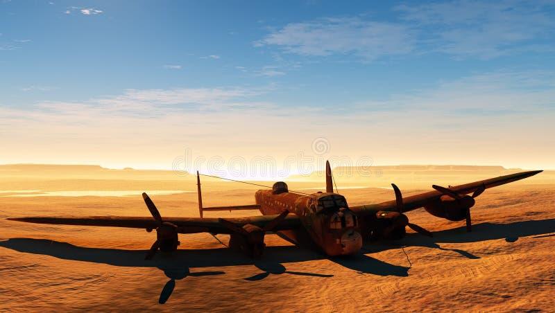 Roestig vliegtuig stock illustratie