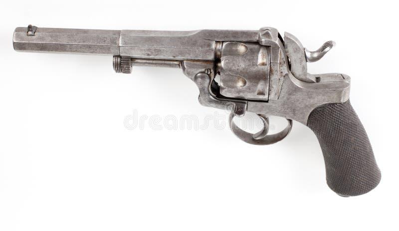 Roestig zilveren pistool royalty-vrije stock foto