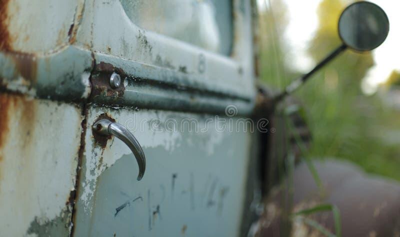 Roestige Bestelwagen royalty-vrije stock foto
