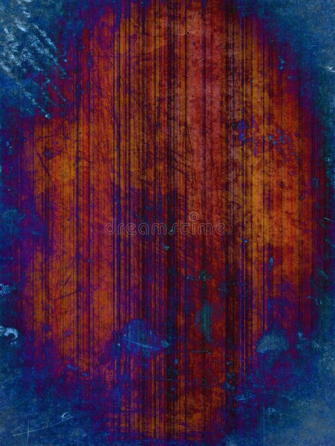 Roestige blauwe grungeachtergrond stock illustratie