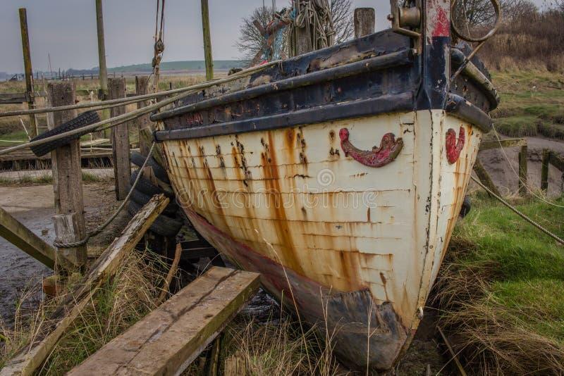 Roestige Boot royalty-vrije stock foto
