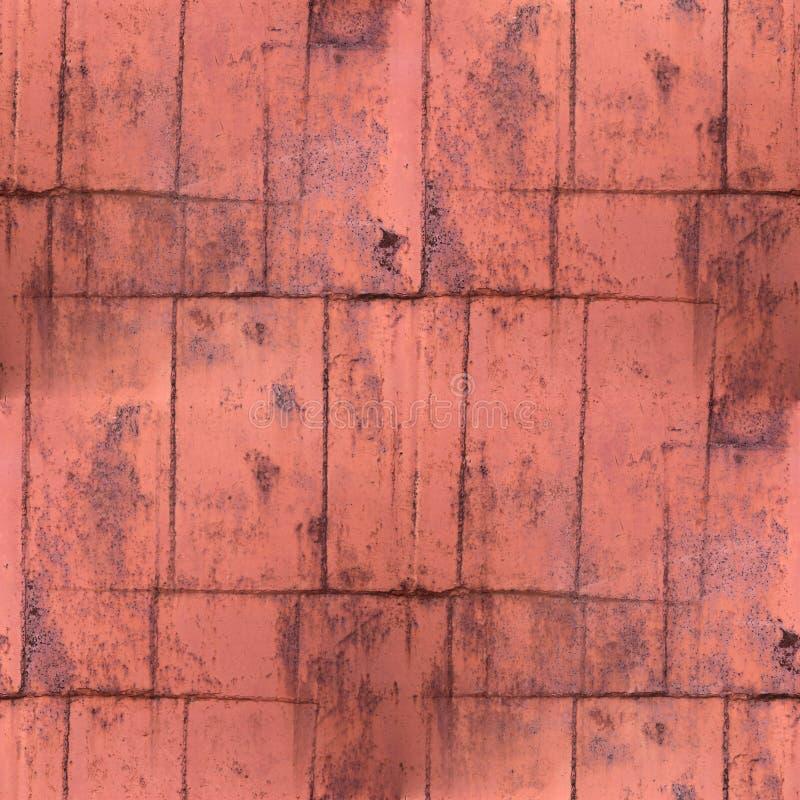 Roestige bruine de roest naadloze textuur van het patroon grunge metaal backgroun royalty-vrije stock foto