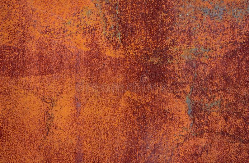 Roestige bruine ijzertextuur, oude omheining met schilverf Geweven behang voor ontwerp vector illustratie