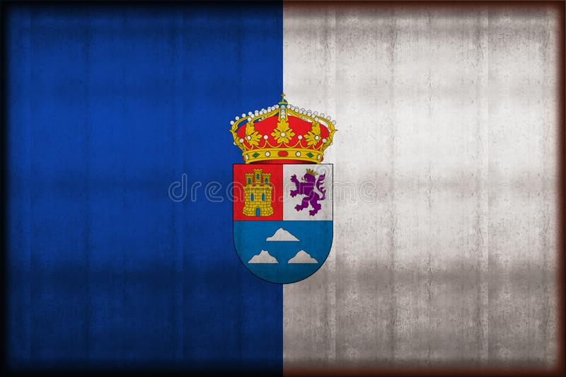 Roestige de vlagillustratie van Las Palmas stock illustratie