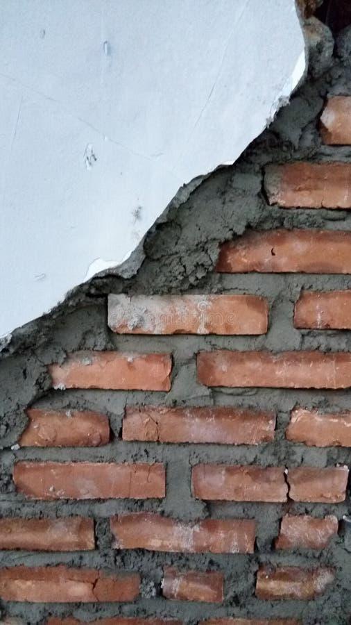 Roestige en vuile de textuurbouw van de cementbaksteen stock foto's