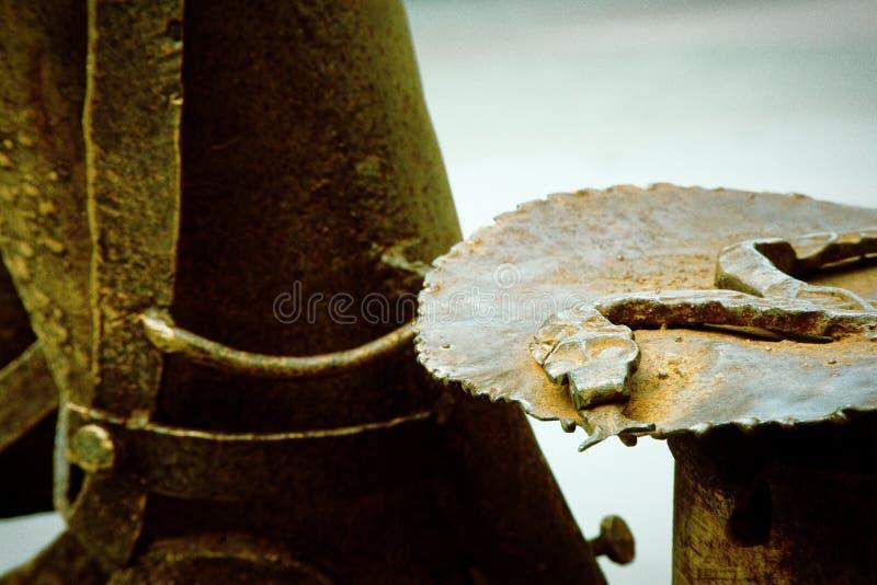 Roestige het metaaltextuur van Grunge Ruwe vuile oppervlakte van metaaldecoratie stock fotografie