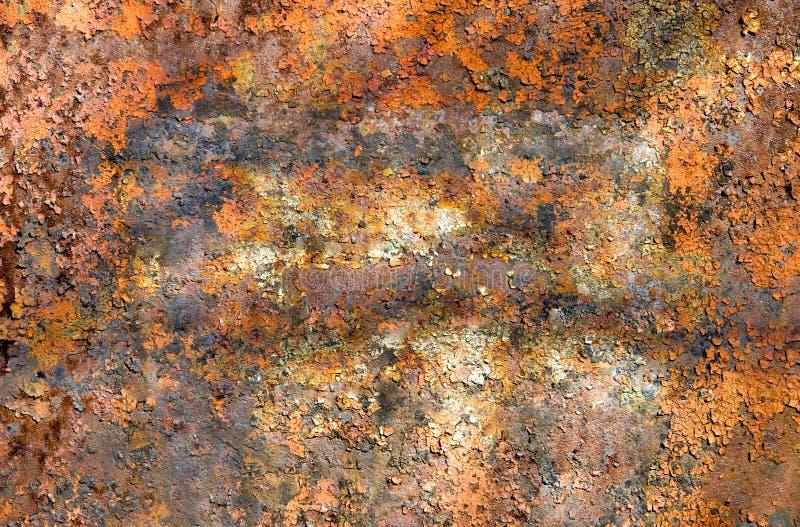 Roestige metaaloppervlakte stock foto's