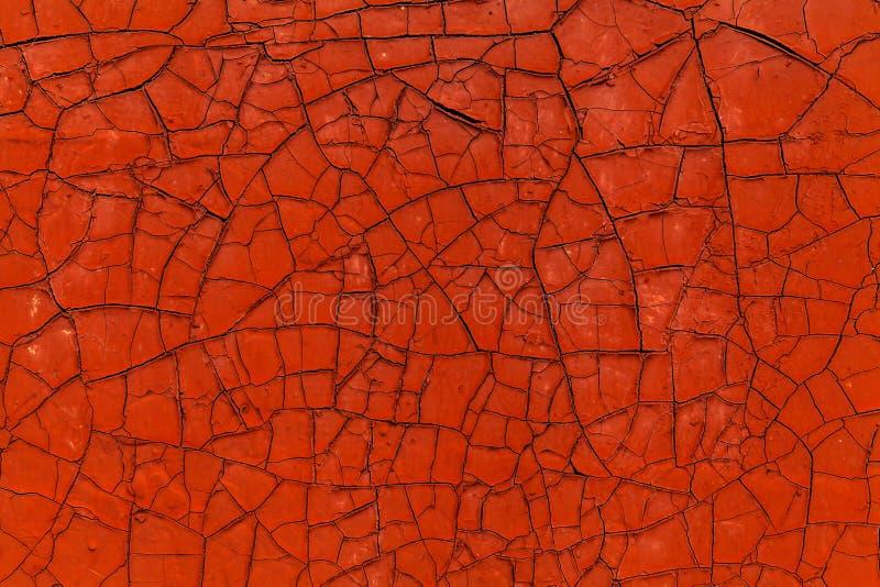 Roestige metaaloppervlakte met oude gepelde verf voor gebruik als textuur of achtergrond stock afbeelding