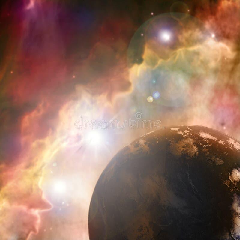 Roestige planeet royalty-vrije stock afbeelding