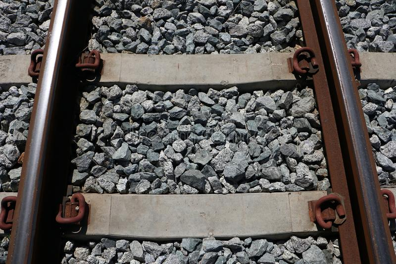 Roestige spoorweg stock fotografie
