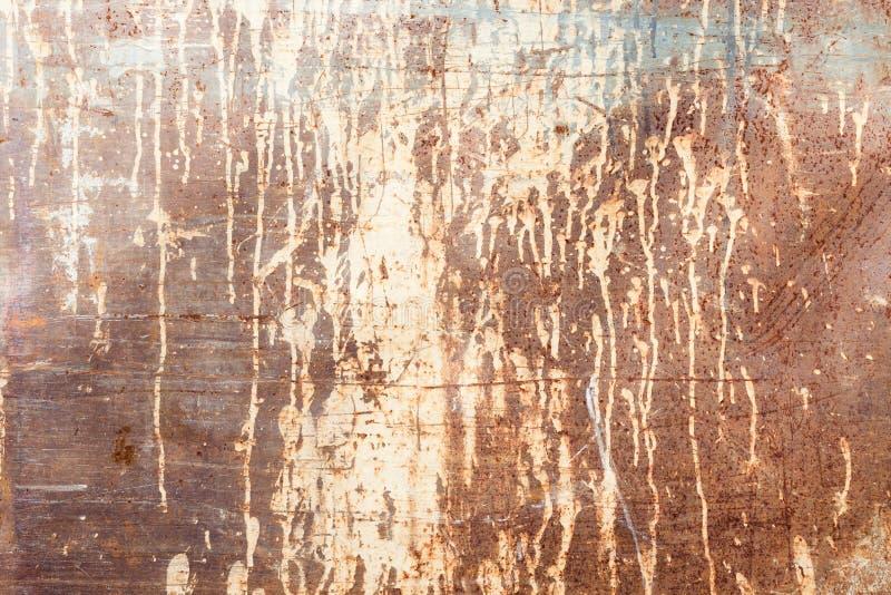 Roestige textuur met druipende verf stock fotografie