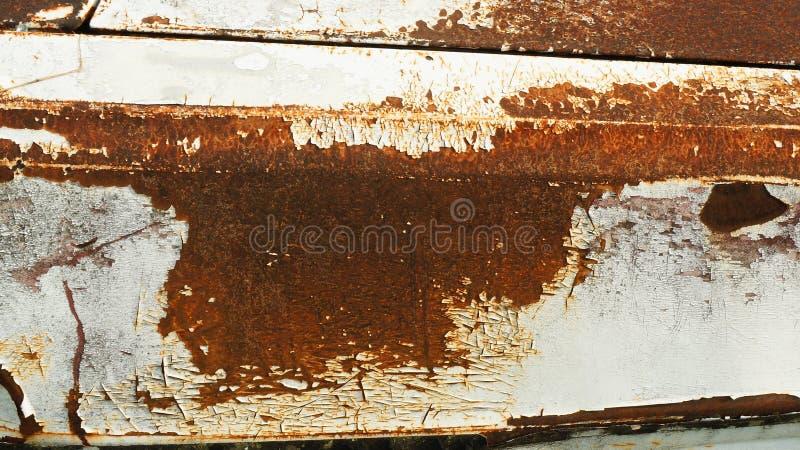 Roestige textuur op metaalplaat royalty-vrije stock afbeeldingen