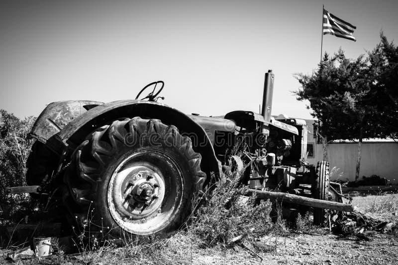 Roestige Tractor royalty-vrije stock fotografie