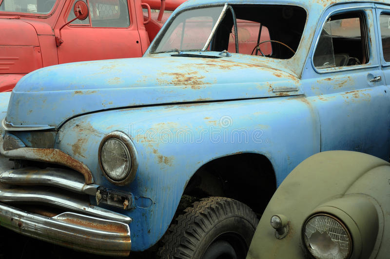 Roestige Uitstekende Auto's royalty-vrije stock foto