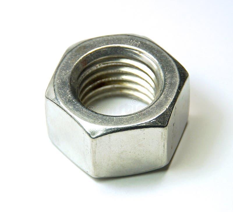Roestvrij staalnoot stock fotografie