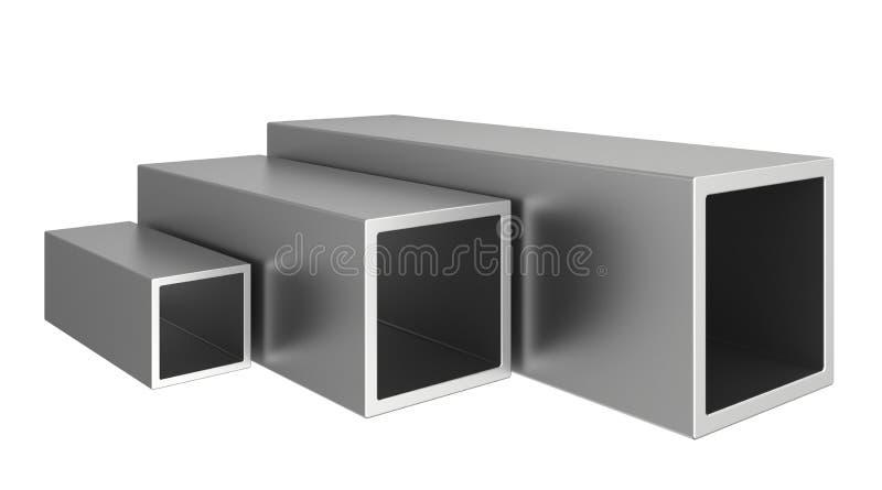 Roestvrij staalprofielen op een witte achtergrond vector illustratie