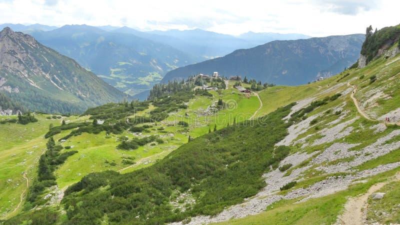 Rofan, Achensee,提洛尔奥地利 免版税图库摄影