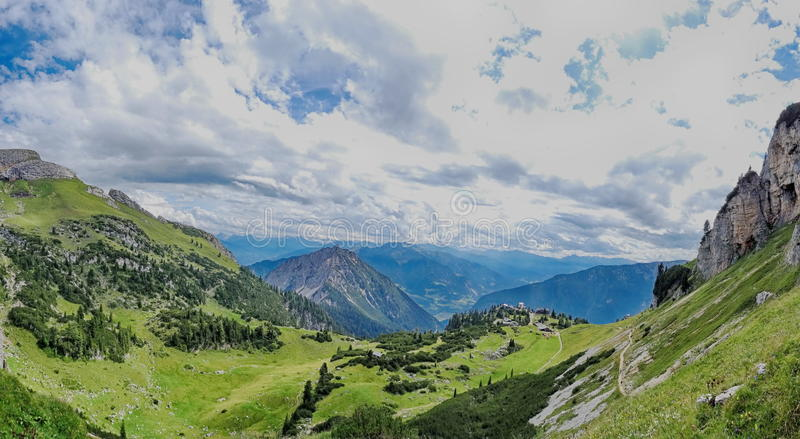 Rofan, Achensee,提洛尔奥地利 免版税库存照片