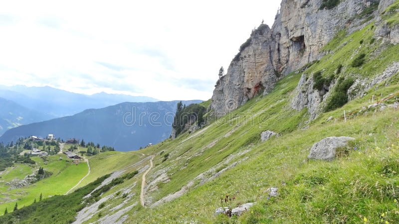 Rofan, Achensee, Tirol Áustria imagem de stock