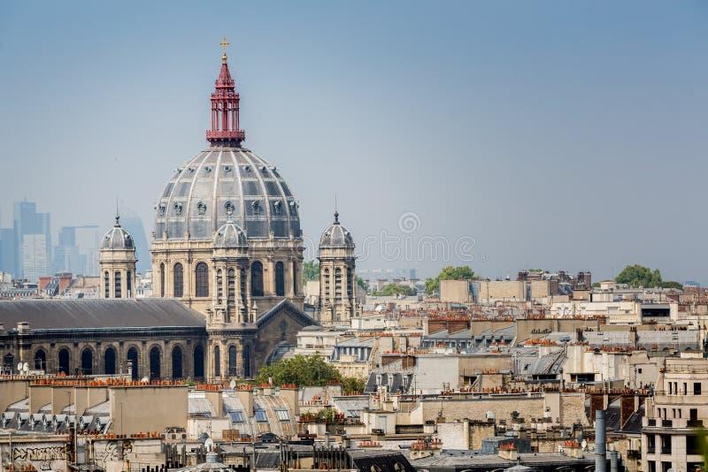 Rofftop sikt av Paris arkivfoton