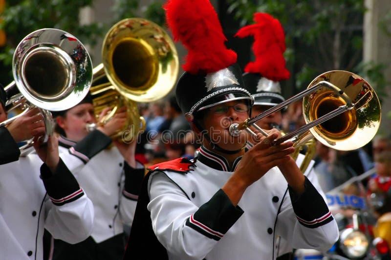 Rogów gracze, orkiestra marsszowa zdjęcie royalty free