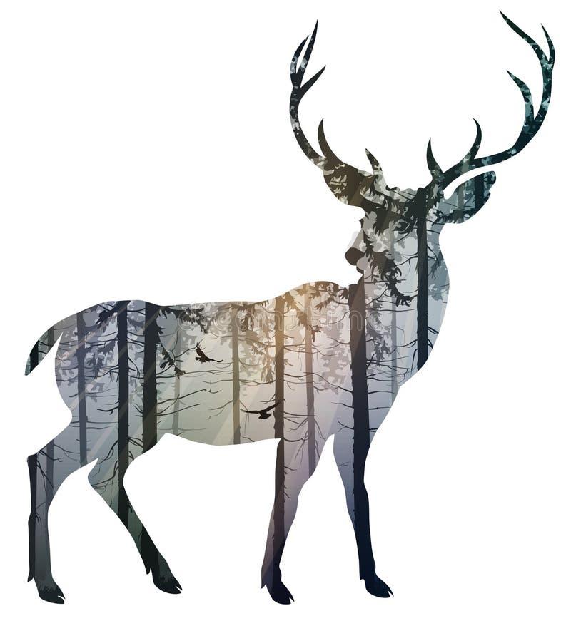 Rogacz royalty ilustracja