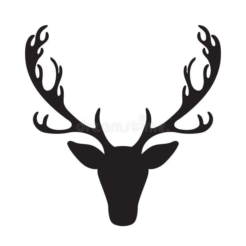 Rogacz kierowniczej wektorowej ilustraci łosia odosobniona sylwetka royalty ilustracja