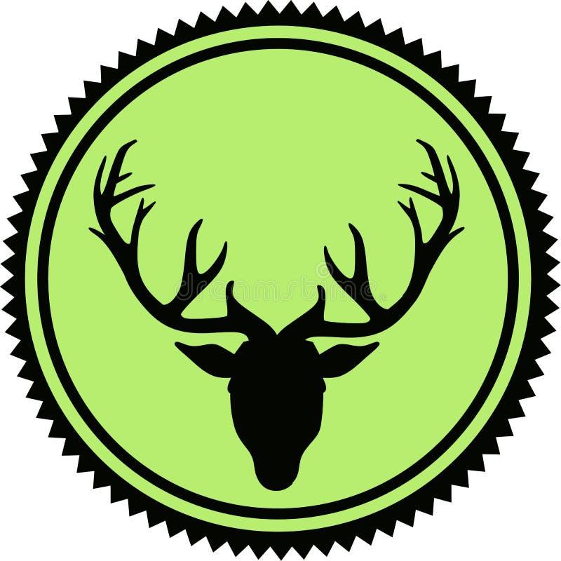 Rogacza kierowniczy emblemat ilustracja wektor