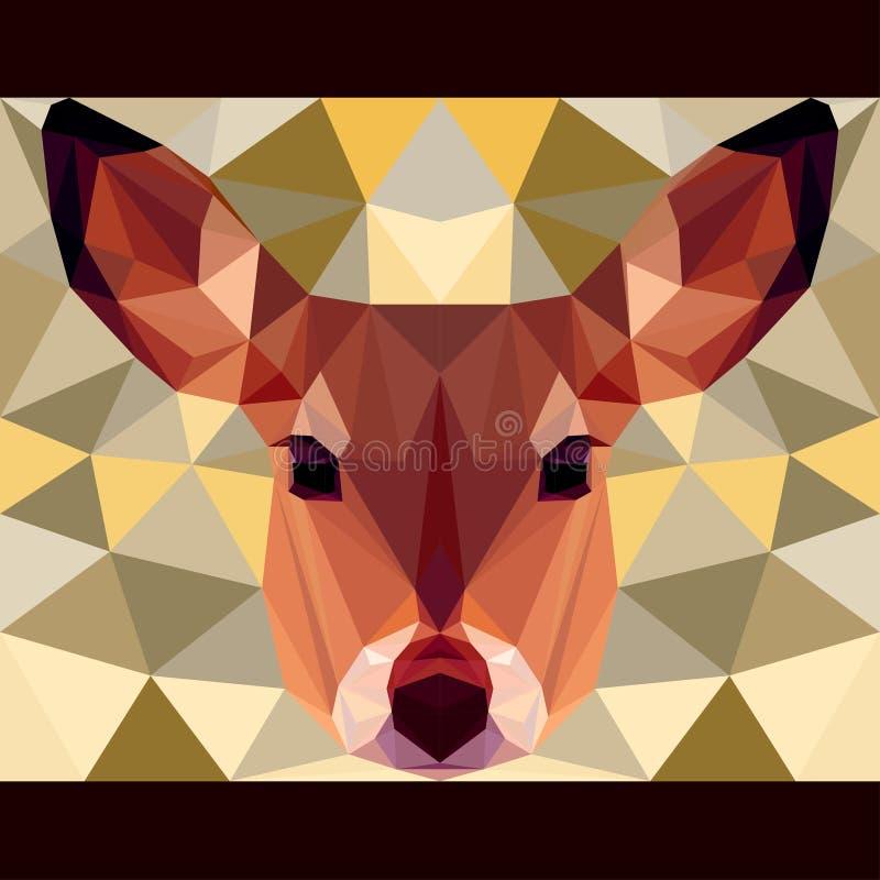 Rogaczy gapienia naprzód Natury i zwierząt życia tematu tło ilustracji