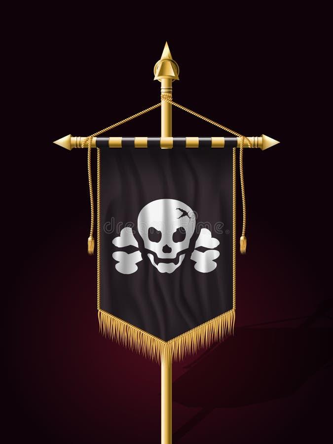 Roger alegre Jack Pirate Flag ilustração stock