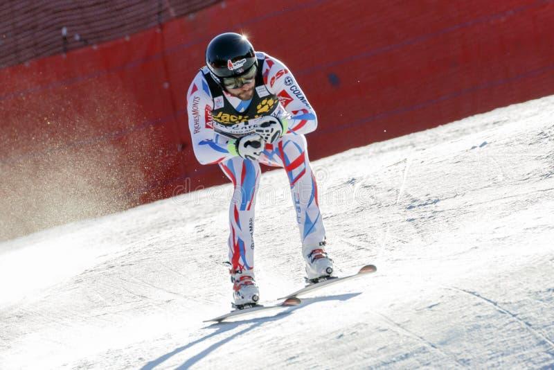 Roger Brice dans Audi FIS Ski World Cup alpin - le Ra incliné des hommes photos libres de droits