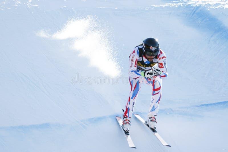 Roger Brice dans Audi FIS Ski World Cup alpin - le Ra incliné des hommes images libres de droits