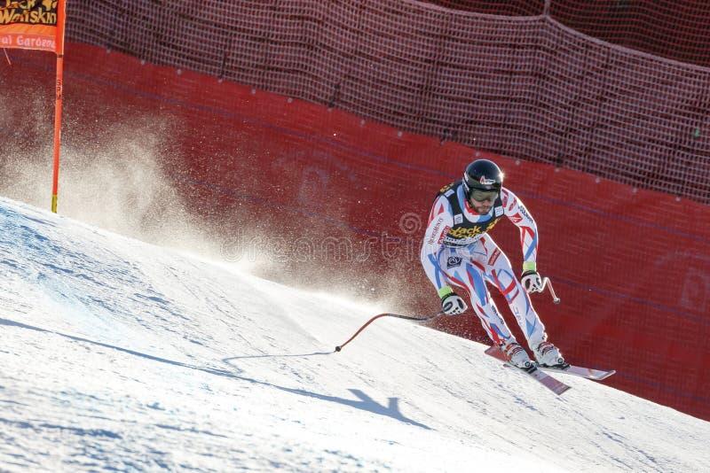 Roger Brice dans Audi FIS Ski World Cup alpin - le Ra incliné des hommes photo stock