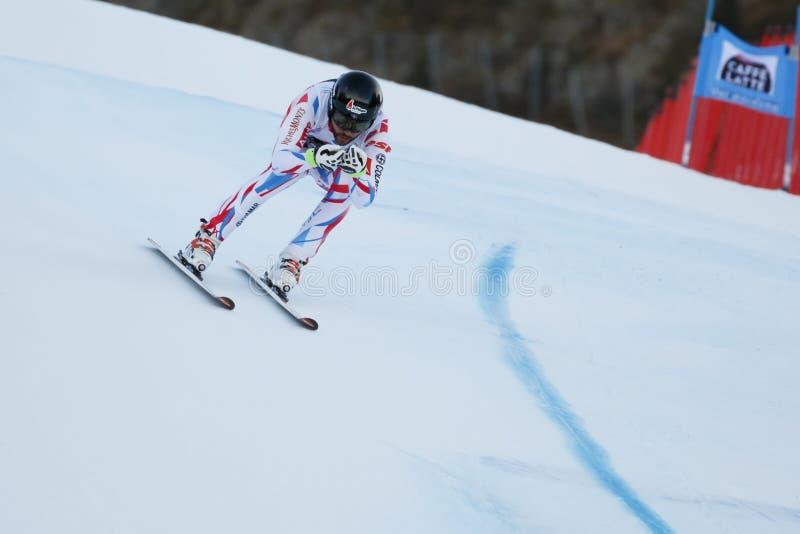 ROGER Brice dans FIS Ski World Cup alpin - le SUPER-G des 3èmes HOMMES images stock