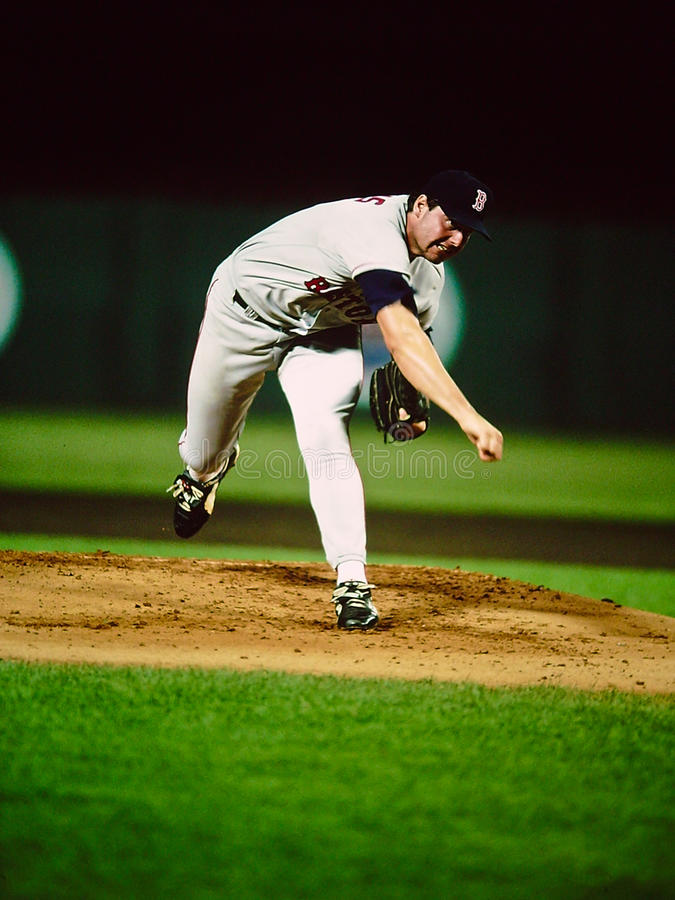 Roger Clemens Boston Rode Sox stock foto's