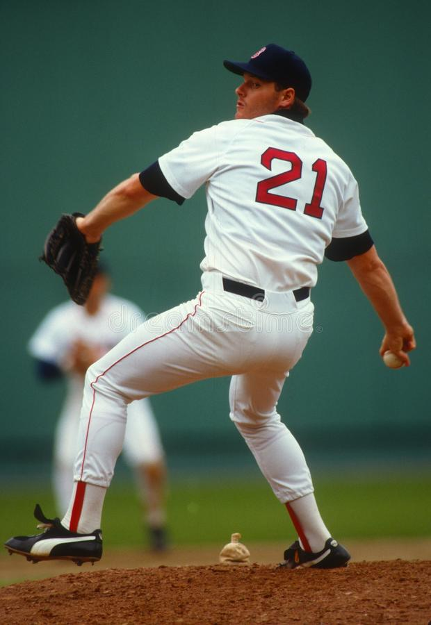 Roger Clemens van Boston Rode Sox stock foto's