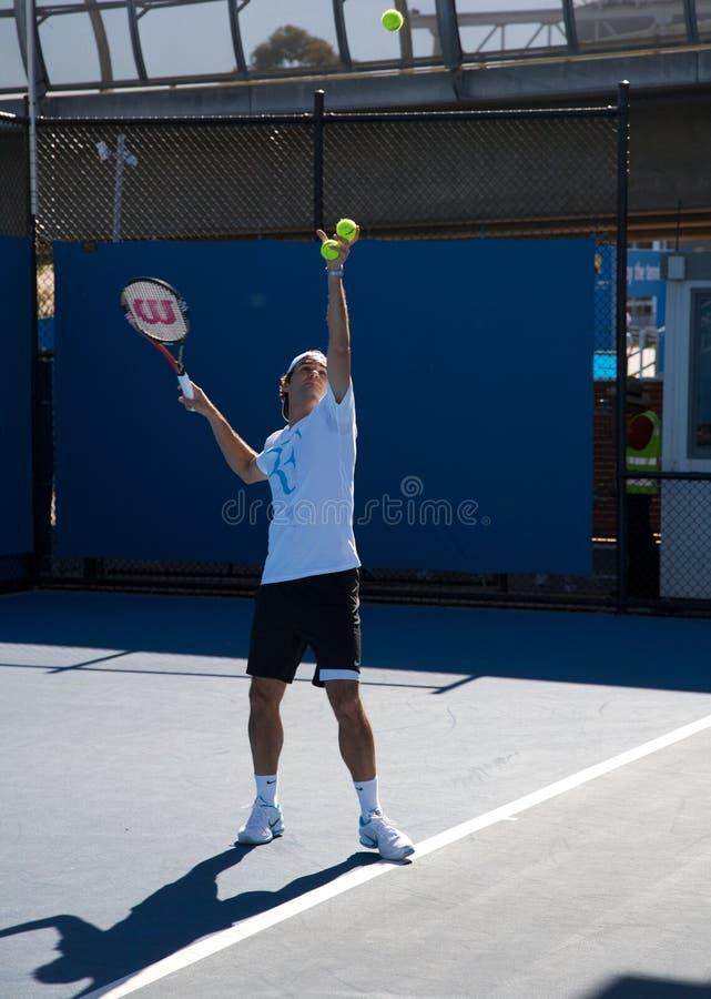 Roger Federer Australie ouverte, Grand Chelem image libre de droits
