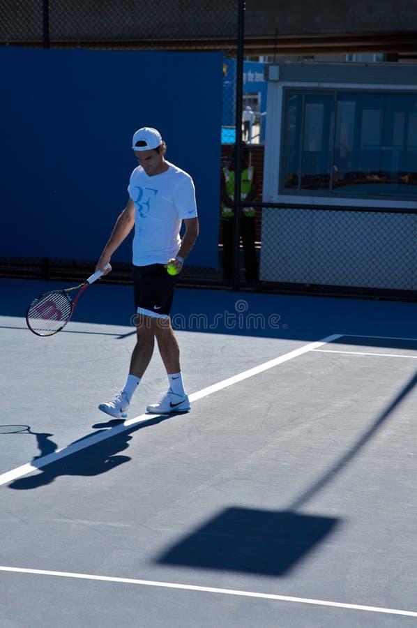 Roger Federer, het gerangschikte tennis van Zwitserland bovenkant royalty-vrije stock afbeelding