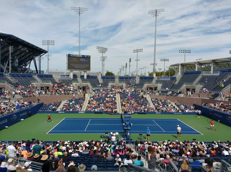 Roger Federer no US Open 2017, New York City, New York, EUA imagem de stock royalty free