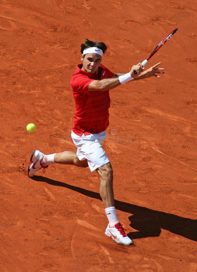Roger Federer (SUI) chez Roland Garros 2011 photo libre de droits