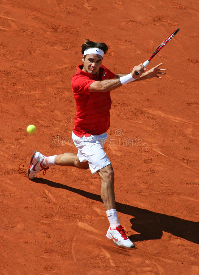 Roger Federer (SUI) at Roland Garros 2011 royalty free stock photo