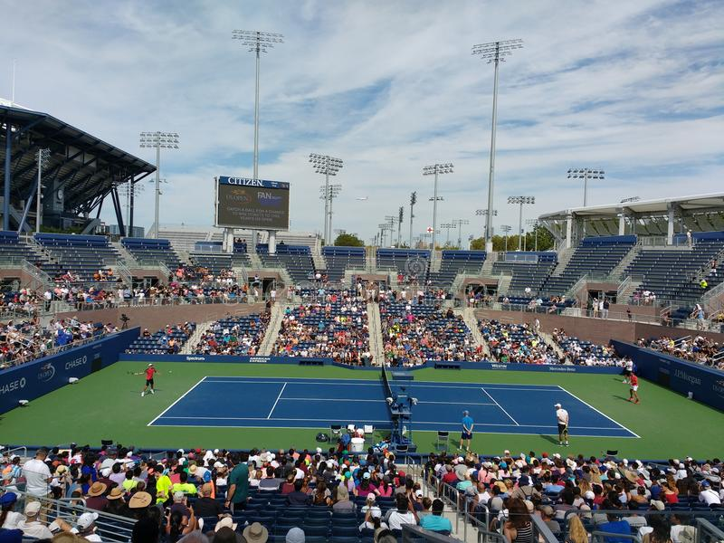 Roger Federer at the 2017 US Open, New York City, New York, USA stock photo