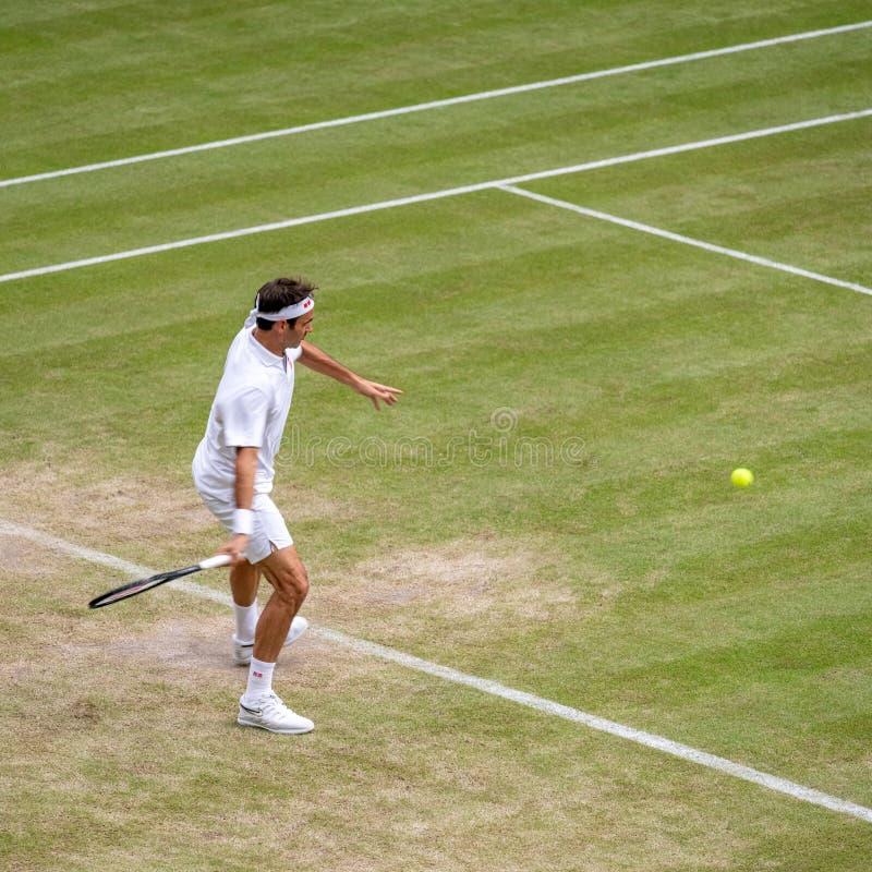 Roger Federerl på Wimbledon fotografering för bildbyråer